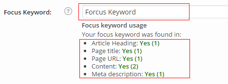 Forcus-Keyword